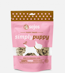 Sojos Simply Puppy Dog Treats Beef & Venison