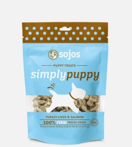 Sojos Simply Puppy Dog Treats Turkey & Salmon