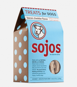 Sojos Dog Treats Bacon Cheddar