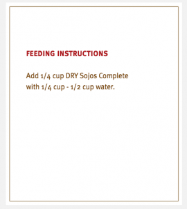 Sojos Complete Dog Food Goat Recipe Trial Size