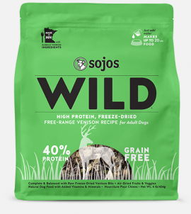 Sojos Wild Dog Food Venison Recipe
